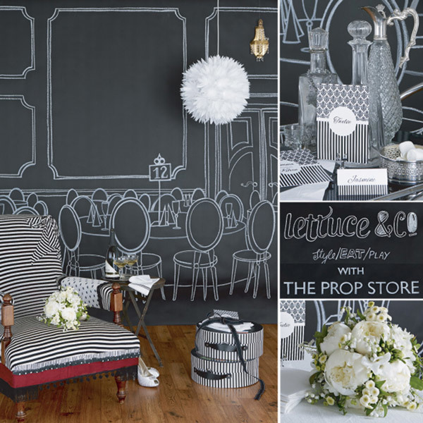 Lettuce and Co and the Prop Store Wedding Styling - Black and White