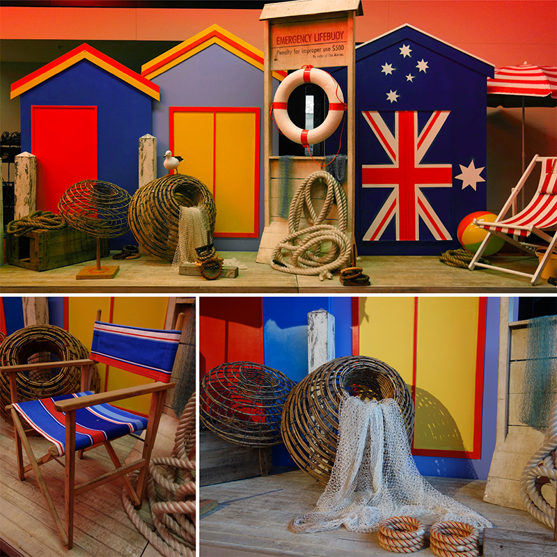 Westpac corporate event styling, Brighton bathing boxes at the MCG, Melbourne. October 2014