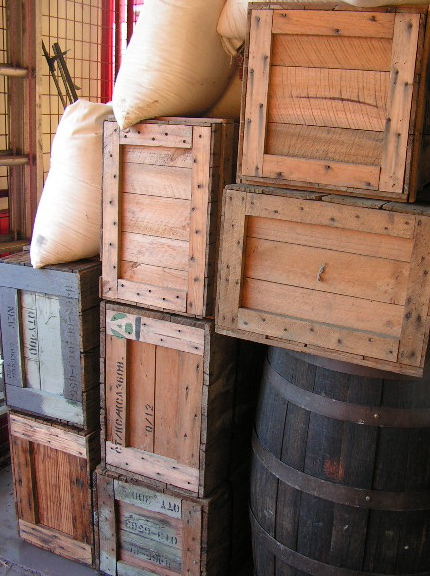 Assorted Crates & Bottles