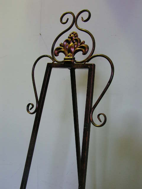 EAS0001 EASEL, Ornate Antique Gold 1.8m high $30