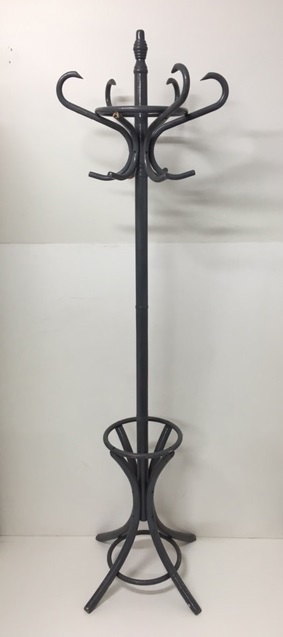 HAT0052 HAT STAND, Grey Bentwood Style 1920s $25