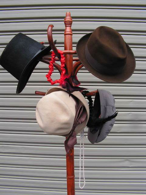 Event Styling - Hat Rack w 1920's Hats