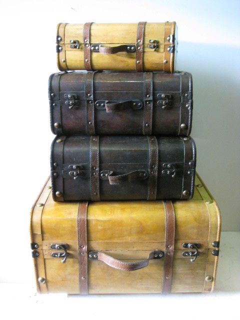 Vintage Plywood Luggage Collection