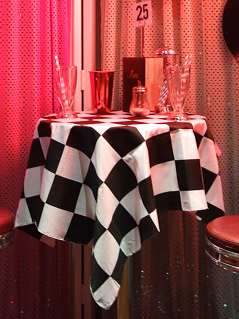1950's Event Styling - Black and White Diner