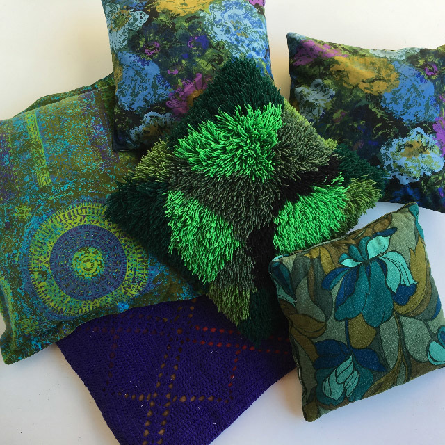 Assorted 1970's Cushions - $10