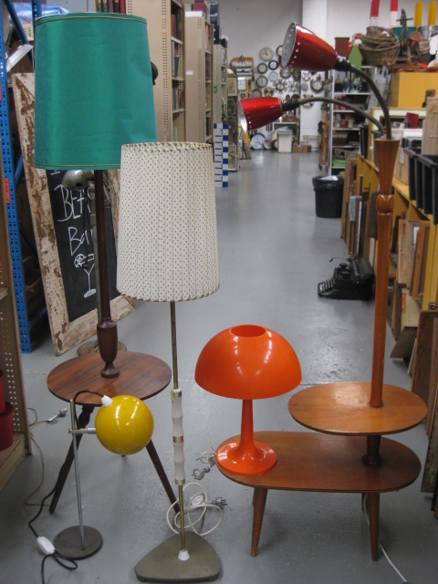 Assorted 1960's and 1970's Floor and Table Lamps
