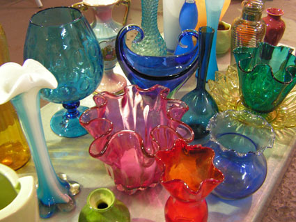 Assorted 1970's Glass Vases
