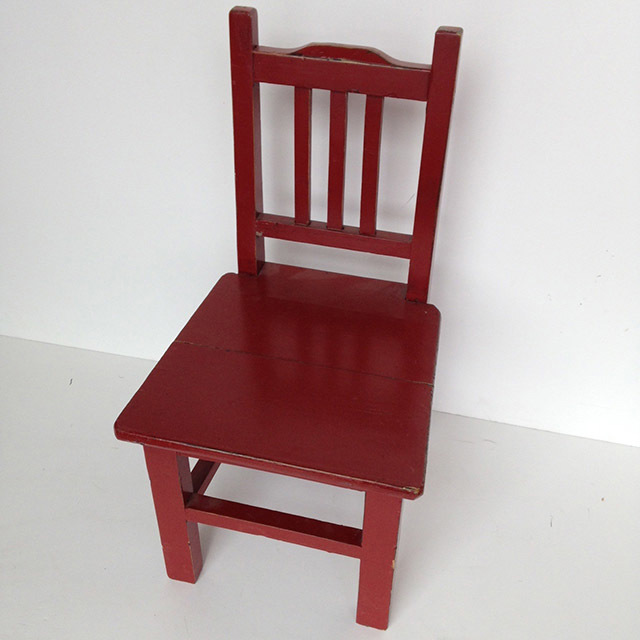 CHA0357 CHAIR, Timber Kids Size 55cm High $13.75