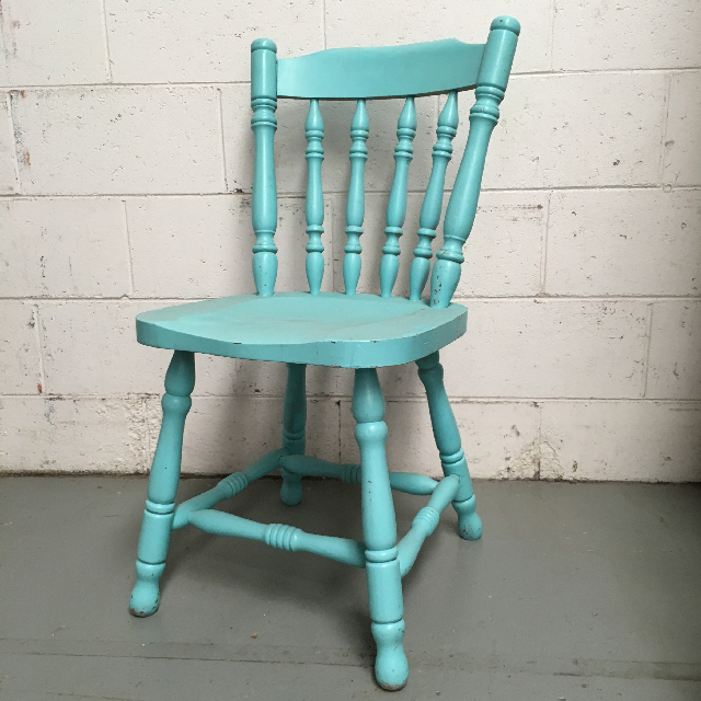 CHA0352 CHAIR, Timber - Painted Aqua $23.75