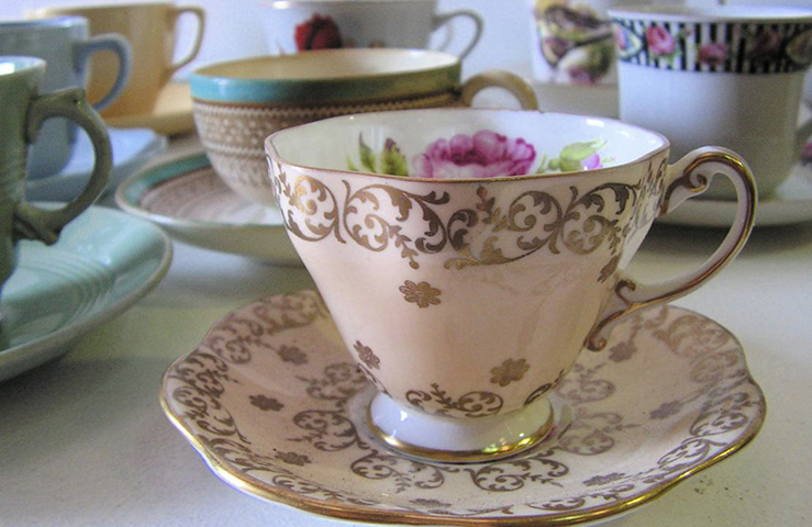 CUP0002 CUP & SAUCER, Standard Size - Assorted $2.50