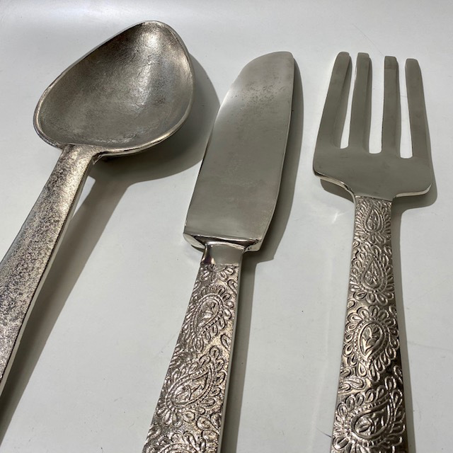 CUT0011 CUTLERY, Oversized (60cm High) Knife, Fork or Spoon $18.75