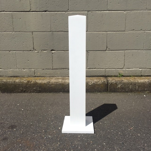 FEN0004 FENCE (PICKET), Post White Timber 70cm H (For FEN0002) $18.75