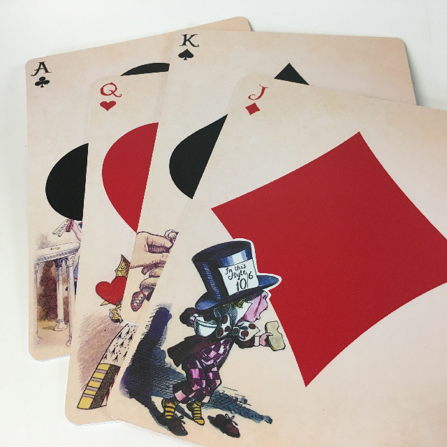 PLAYING CARD, Alice In Wonderland Themed - Oversize 40cm H $12.50 Each