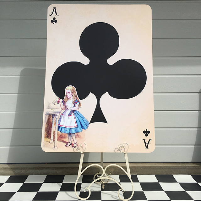 PLA0054 PLAYING CARD, Alice Ace Clubs Oversize 1.2m H $30