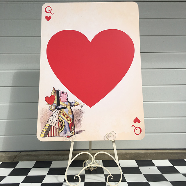 PLA0056 PLAYING CARD, Queen of Hearts Oversize 1.2m H $30