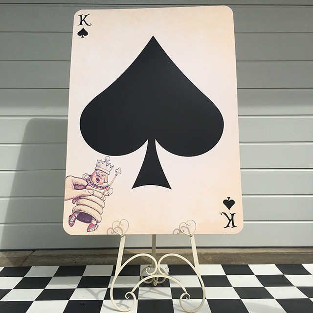 PLA0057 PLAYING CARD, King of Spades Oversize 1.2m H $30