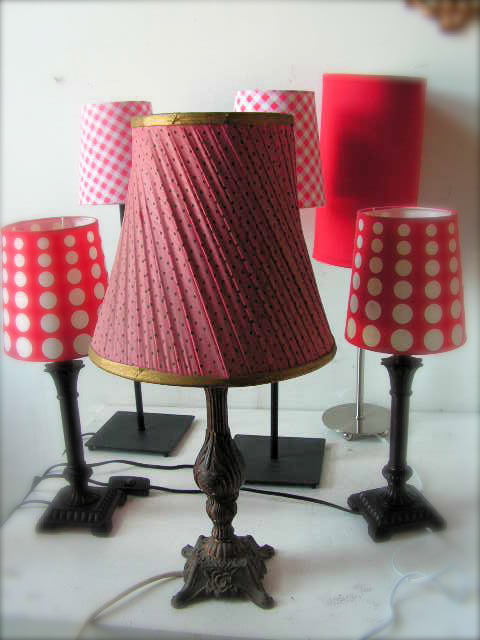 Table Lamps - Assorted Reds & Pinks