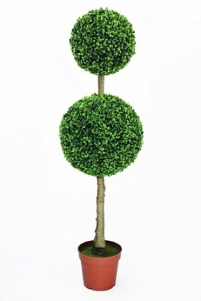 GRE0023 GREENERY, Topiary - Double Boxwood Ball Tree - 135cm H $45