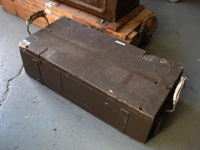 AMM0003 AMMO BOX, Wooden - Brown (Rope Handles) 65x30x19cm $18.75