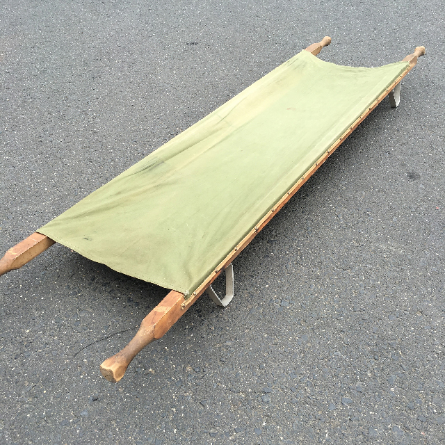STR0005 STRETCHER, Army - Canvas w Wooden Handles $23.75
