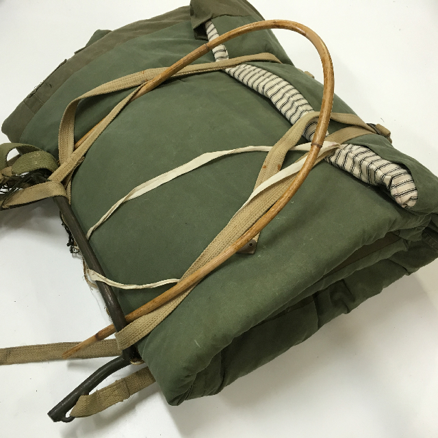 BAC0105 BACKPACK (Rucksack), Army - Green Bed Roll $30