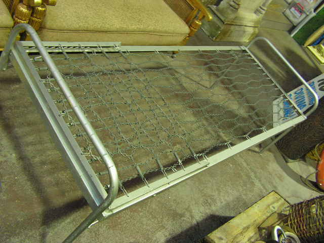 BED0101 BED, Industrial Metal Folding Bed Frame - Silver/Grey $50