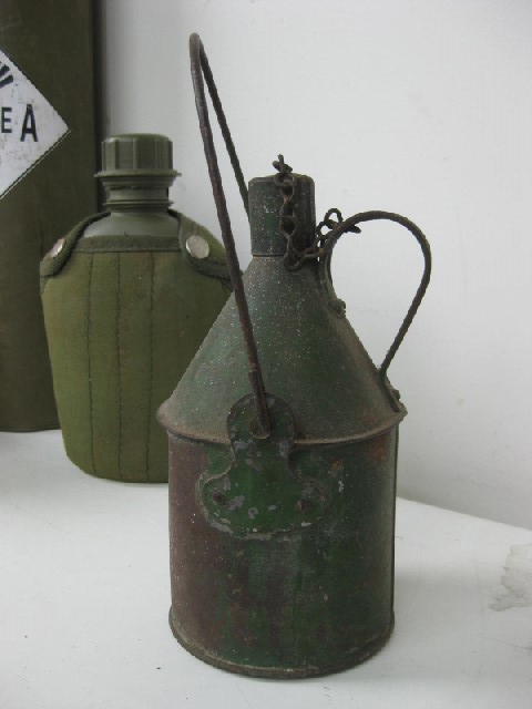 CAN0100 CANNISTER, Army - Green Metal $8.75