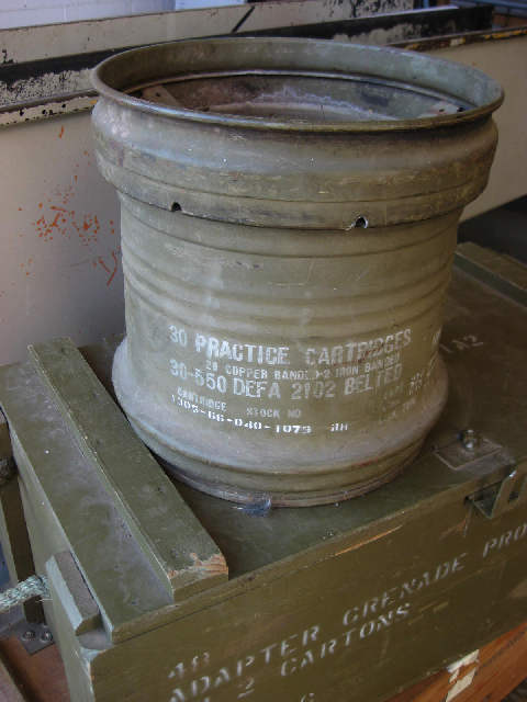 CAN0101 CANNISTER, Cartridge - 30cm High Khaki Drum $18.75