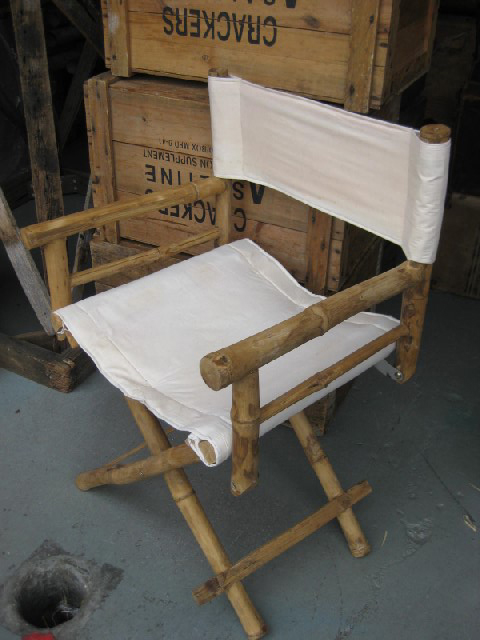 CHA0500 CHAIR, Directors Chair - Bamboo & Canvas $22.50