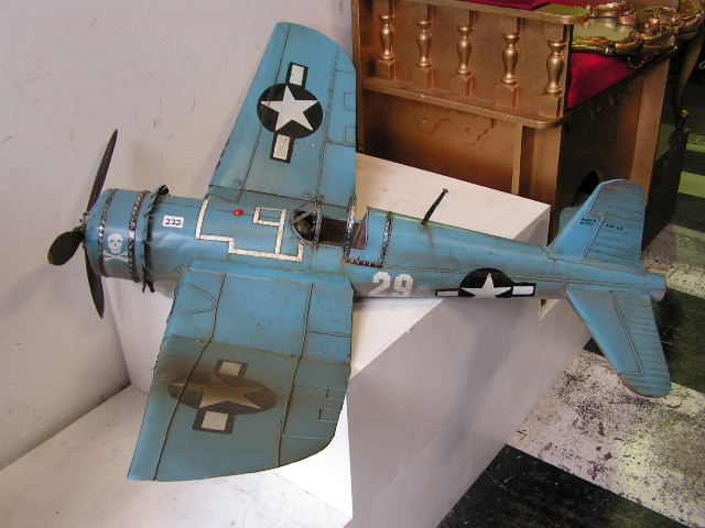 MOD0001 MODEL AIRPLANE, Blue Metal 1m $55