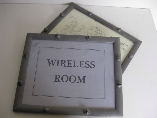 SIG0002 SIGN, Wireless Room / Map Grey Rivet Frame $12.50