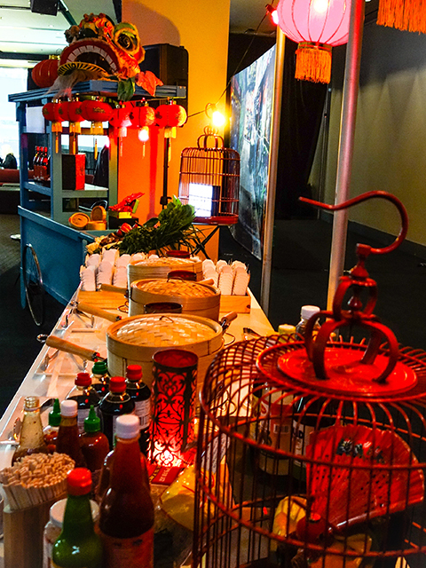 Corporate Event Styling - Asian Food Station
