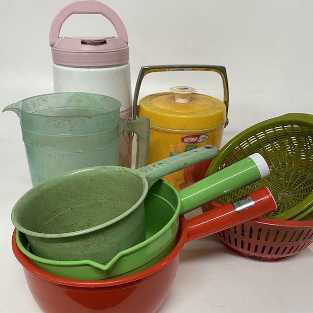 PLA0251 PLASTICWARE, Asian Cookware Assorted $3.75 & COL0035 COLANDER, Assorted Plastic $3