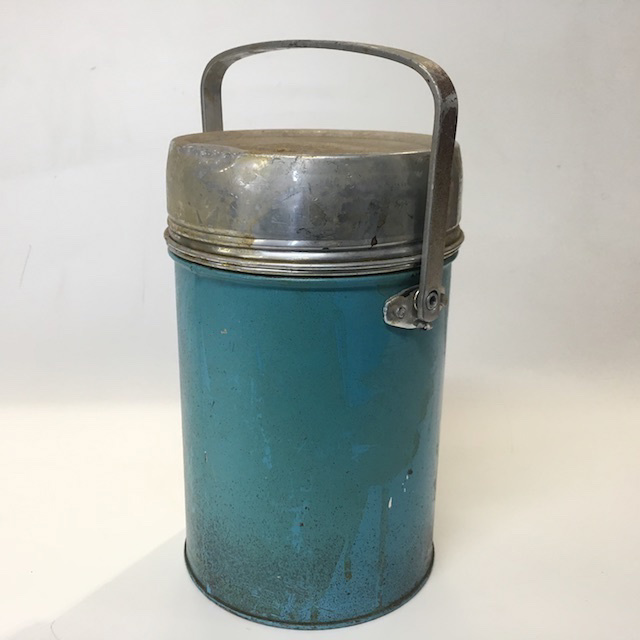 THE0004 THERMOS, Asian Style - Teal Blue $8.75
