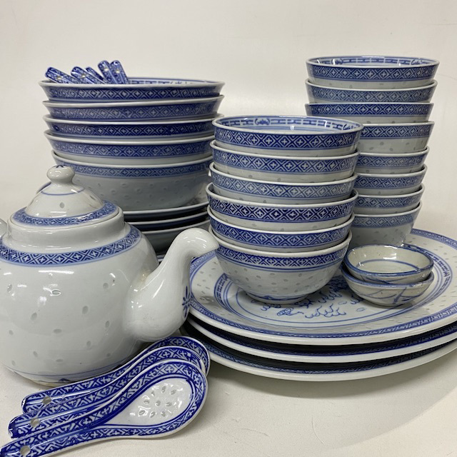 CRO0017 CROCKERY, Asian Style - Chinese Blue and White $2.50