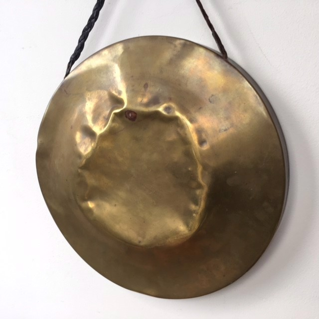 GON0001 GONG, Small Brass 30cm Dia $15