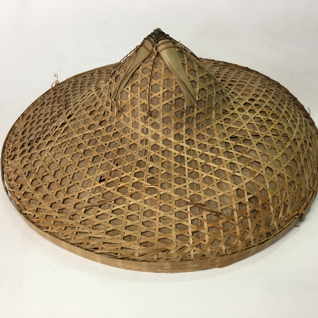 HAT0031 HAT, Thai Bamboo Paddy Hat $7.50