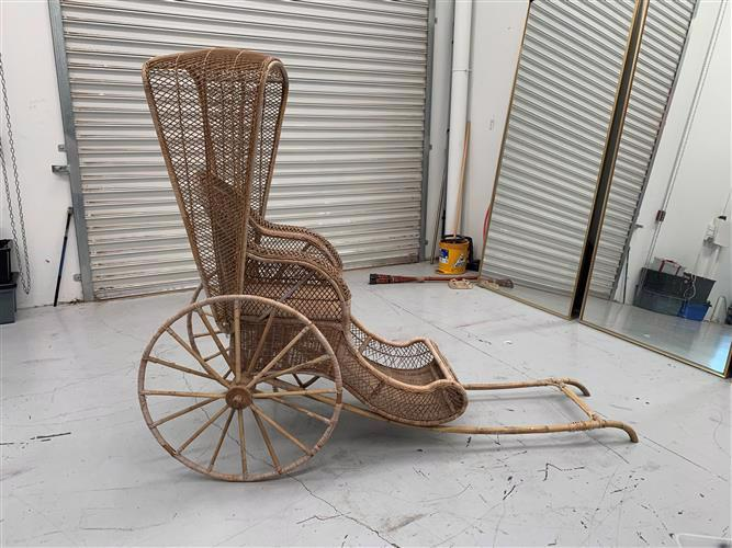 RIC0001 RICKSHAW - Rustic Cane (Styling Only - Not to be sat on) $100