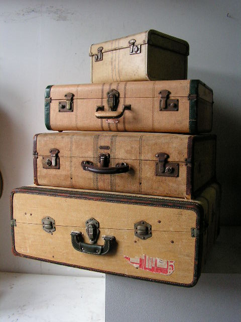 Assorted Asian Style Suitcases