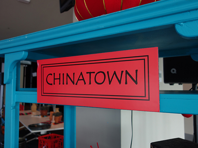 SIG0507 SIGN, Cart Sign - Chinatown Black and Red $15