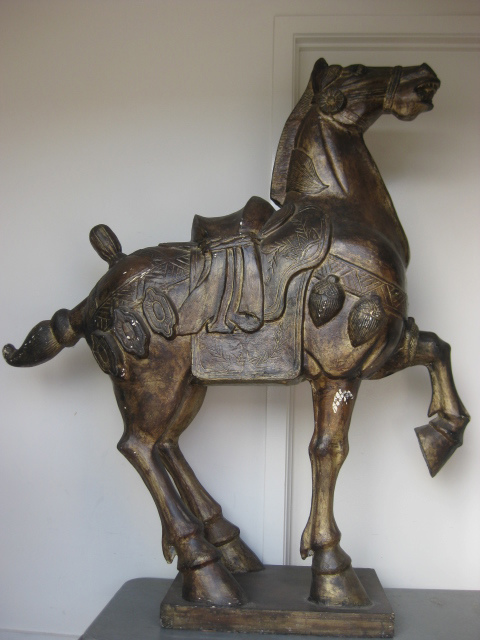 STA0010 STATUE, Chinese Ming Dynasty Horse 1.4m L x 1.6m H (Lightweight) $187.50