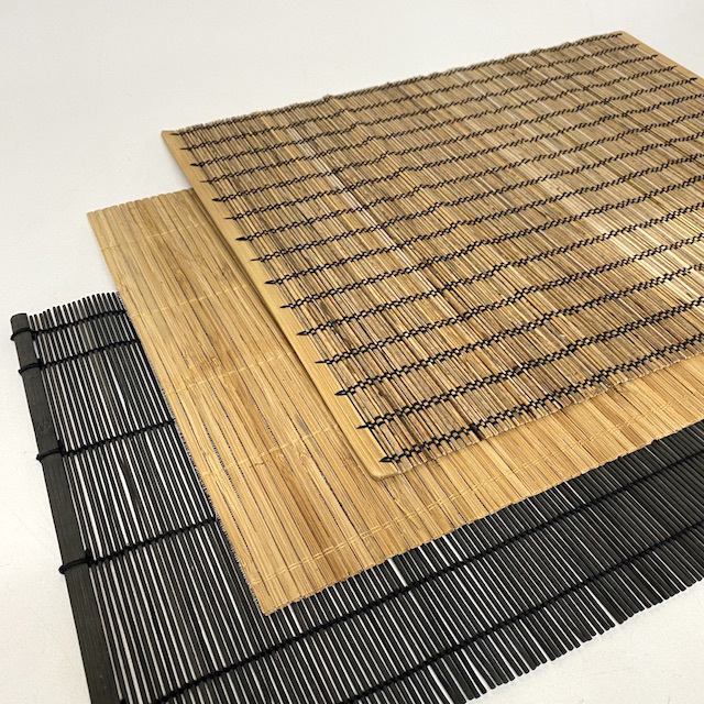 TAB0141 TABLE MAT, Bamboo Placemat Assorted $2