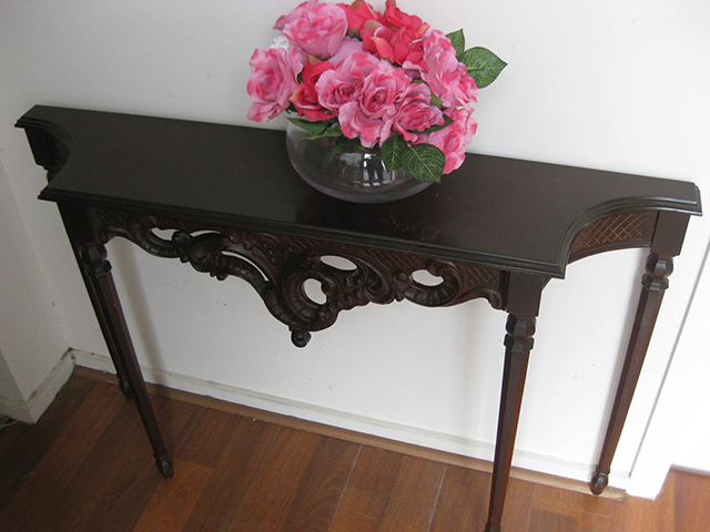 TAB0006 TABLE, Hall Table - Chinese Carved Rosewood 1.15m x 77cm H $37.50
