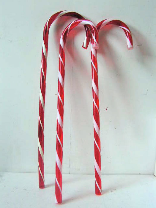 LOL0007 LOLLY, Candy Cane Red & White 70cm H (Hook End) $3.75
