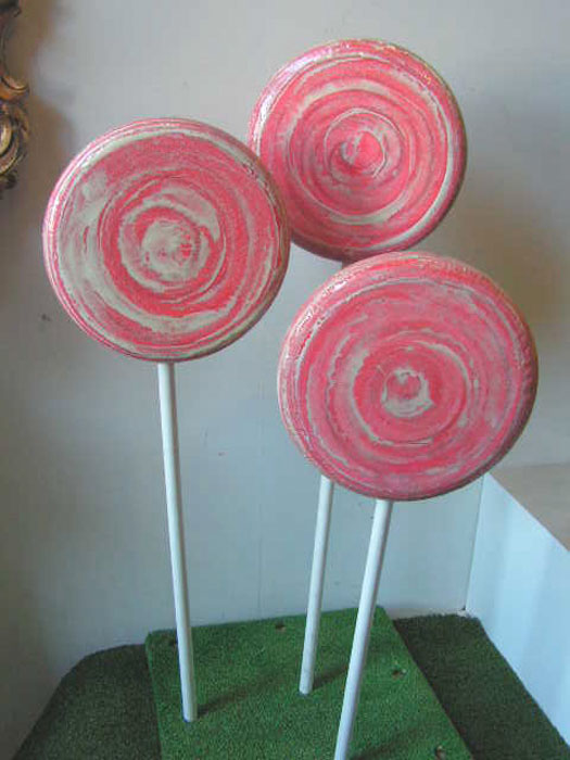 LOL0002 LOLLY, Pink Swirl Round 30cm Dia $18.75