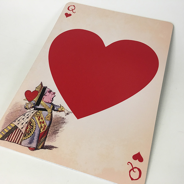 PLA0060 PLAYING CARD, Queen of Hearts Oversize 40cm H $12.50