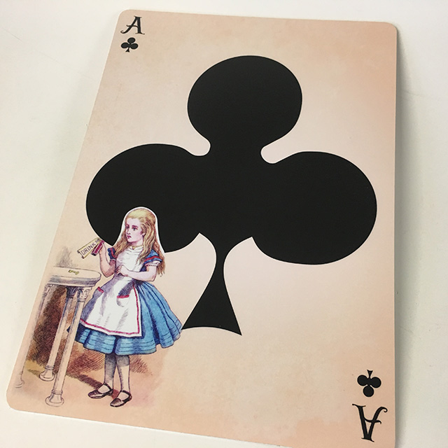 PLA0058 PLAYING CARD, Alice Ace Clubs Oversize 40cm H $12.50