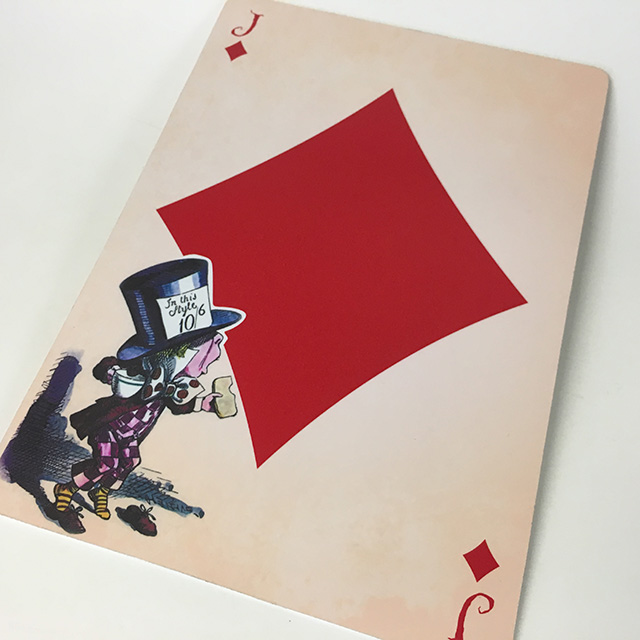 PLA0059 PLAYING CARD, Mad Hatter Jack Diamonds Oversize 40cm H $12.50