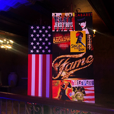 Broadway Banner Styling at Plaza Ballroom