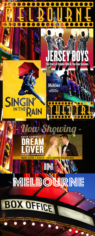 BAN0109 BANNER, Hanging Melbourne Theatre - Dream Lover 75cm x 1.8m Long $37.50